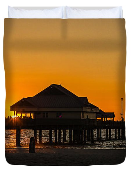 Pier 60 Sunset Duvet Cover by Jane Luxton