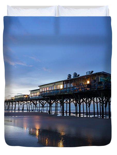 Pier At Twilight Duvet Cover