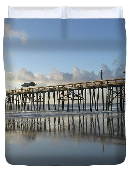 Pier Reflection Duvet Cover