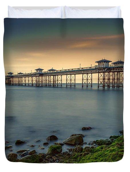 Pier Seascape Duvet Cover by Adrian Evans