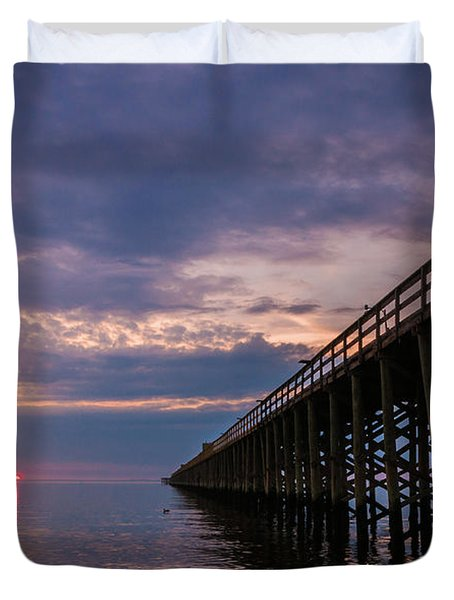Pier To The Horizon Duvet Cover