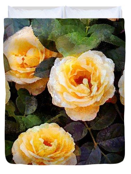Pierre's Peach Roses Duvet Cover