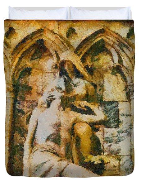 Pieta Masterpiece Duvet Cover by Dan Sproul