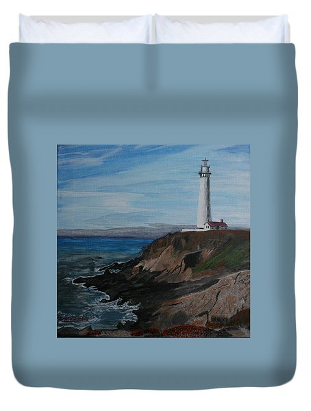 Pigeon Lighthouse Daytime Titrad Duvet Cover