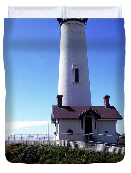 Pigeon Point Lighthouse 3 Duvet Cover by Kathy Yates