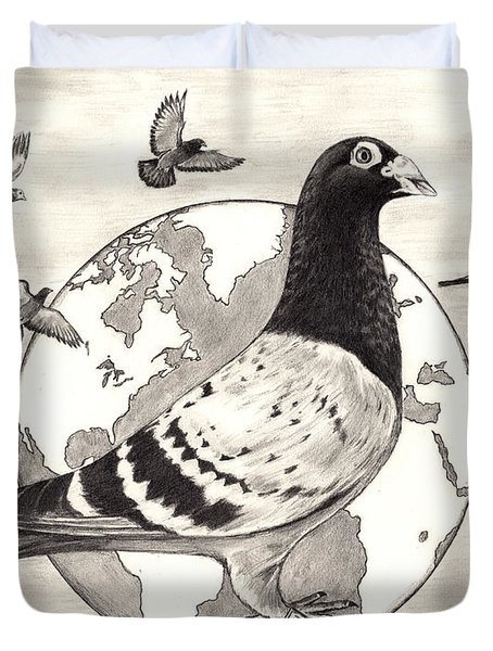 Pigeon Race Duvet Cover