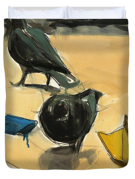 Pigeons Duvet Cover by Daniel Clarke