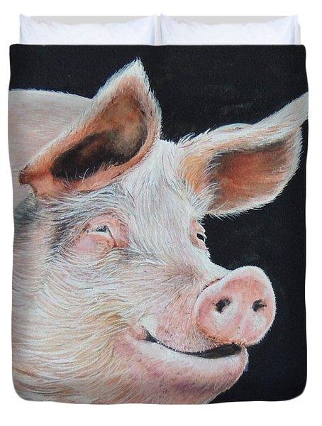 Piggy.  Sold  Duvet Cover