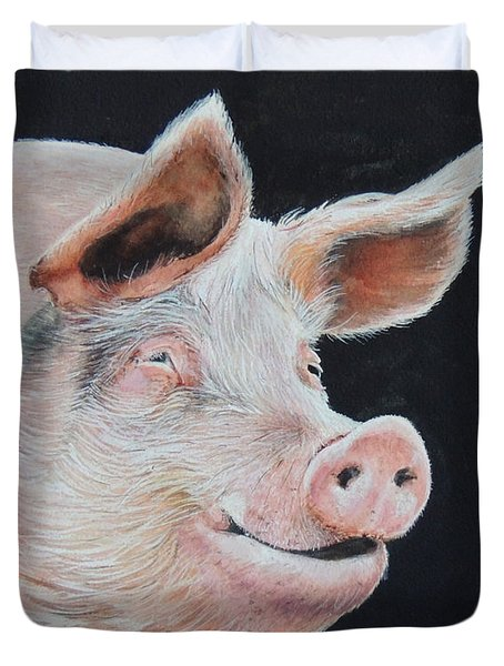 Piggy.  Sold  Duvet Cover