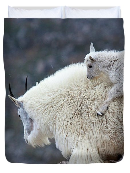 Piggyback Ride Duvet Cover