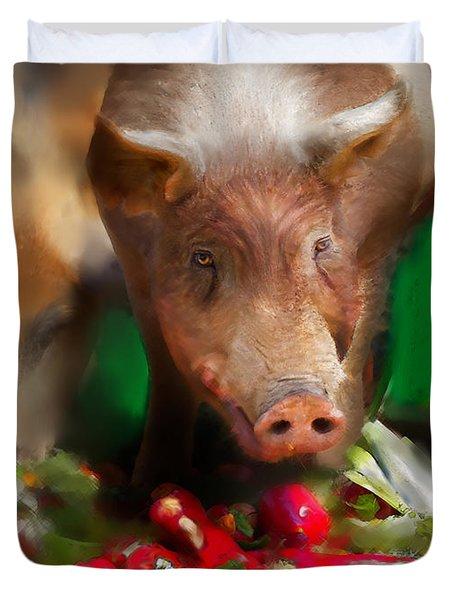Pigs Duvet Cover
