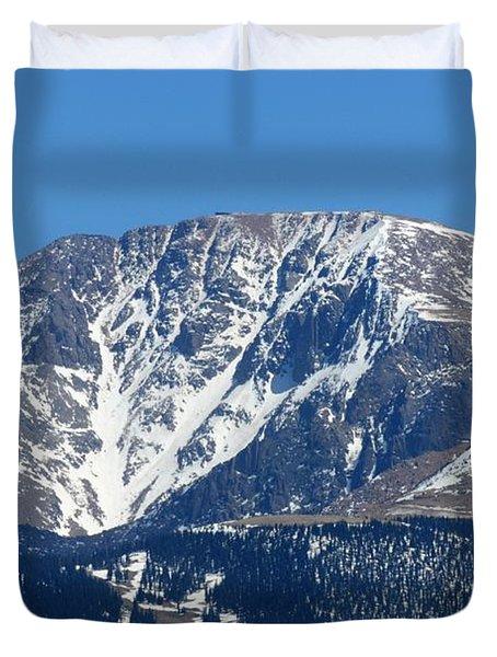 Pikes Peak Close-up Duvet Cover