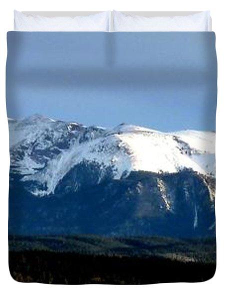 Pikes Peak Panorama Duvet Cover