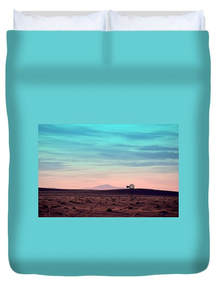 Pikes Peak To Prairie Duvet Cover by Clarice  Lakota