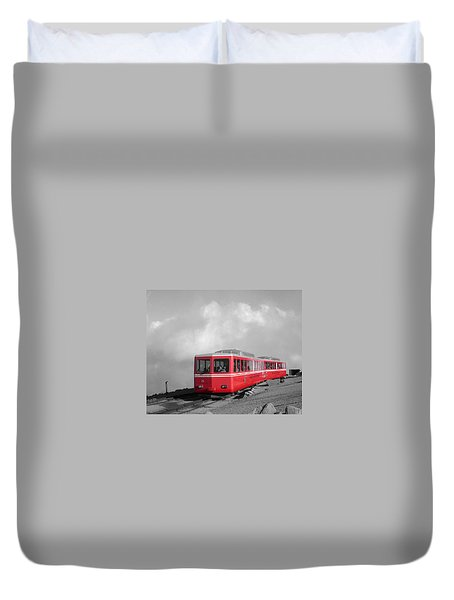 Pikes Peak Train Duvet Cover