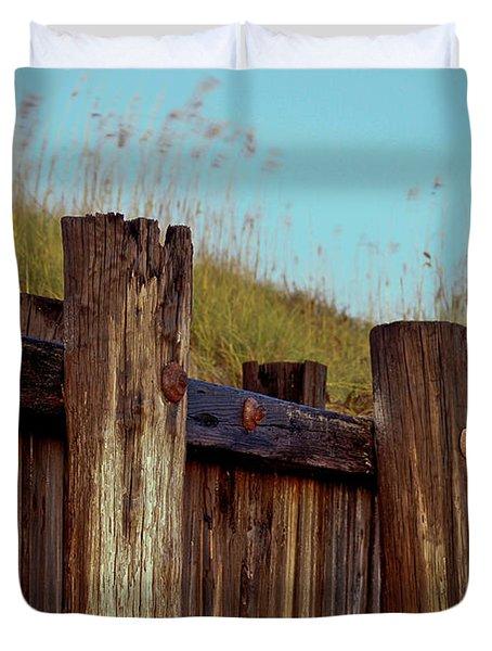 Pilings Folly Beach Sc Duvet Cover