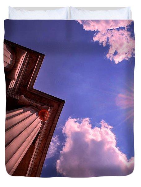 Duvet Cover featuring the photograph Pillars In The Sun by Matt Harang