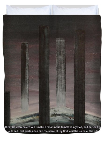 Pillars Duvet Cover by Wayne Cantrell