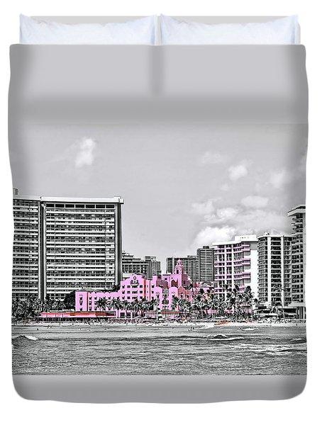 Pink Palace Duvet Cover by DJ Florek