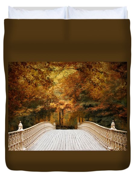 Pine Bank Autumn Duvet Cover