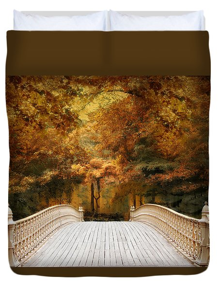 Pine Bank Autumn Duvet Cover