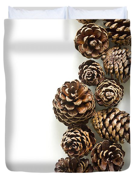 Pine Cones Duvet Cover by Edward Fielding