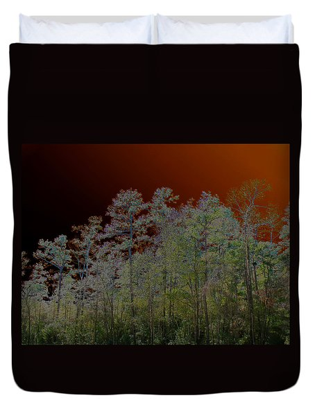 Duvet Cover featuring the photograph Pine Forest by Connie Fox