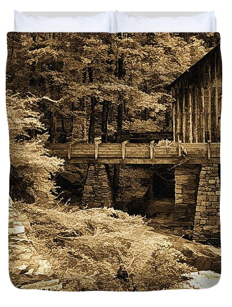 Pine Run Grist Mill Duvet Cover by Priscilla Burgers