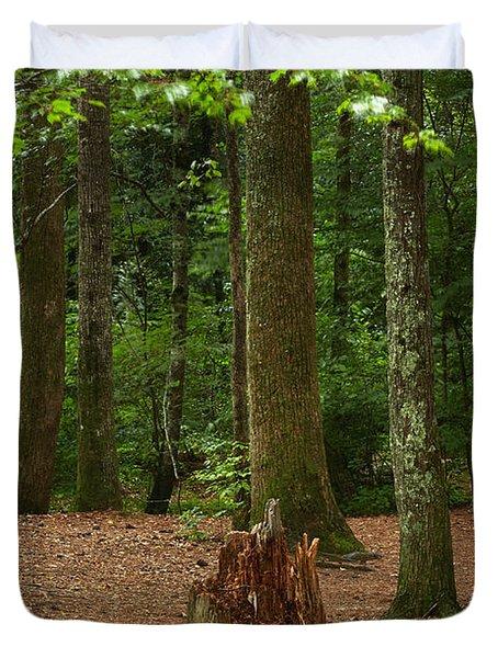 Pine Stump Duvet Cover