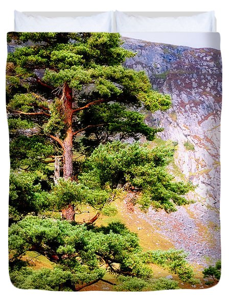 Pine Tree In Wicklow Hills. Ireland Duvet Cover by Jenny Rainbow