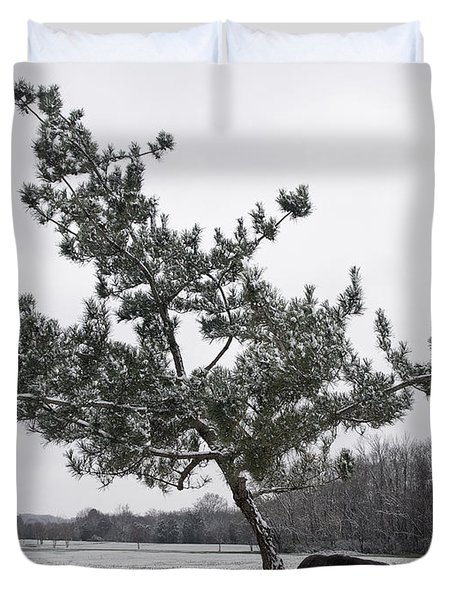 Pine Tree Duvet Cover by Melinda Fawver