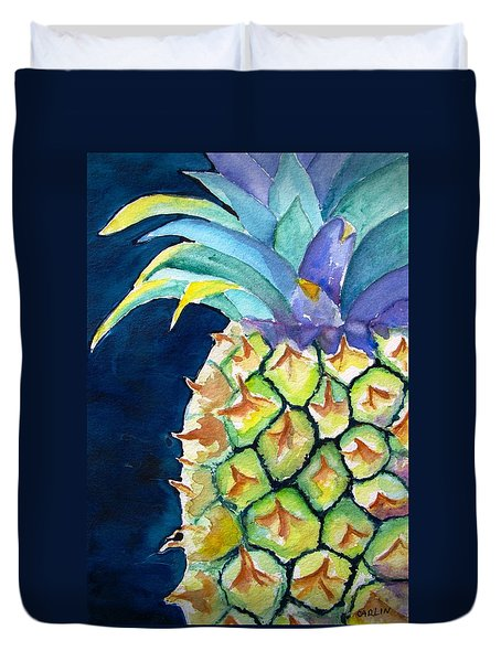 Pineapple Duvet Cover by Carlin Blahnik