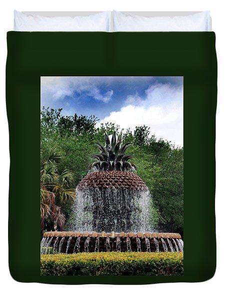 Pineapple Fountain Duvet Cover by Skip Willits