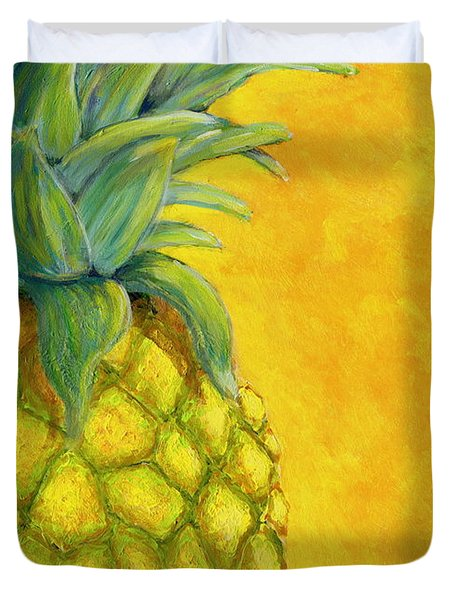 Pineapple Duvet Cover by Karyn Robinson