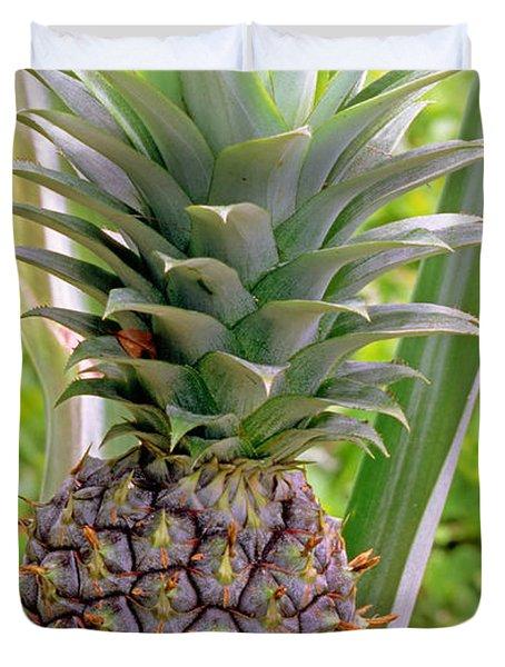 Pineapple Plant Duvet Cover