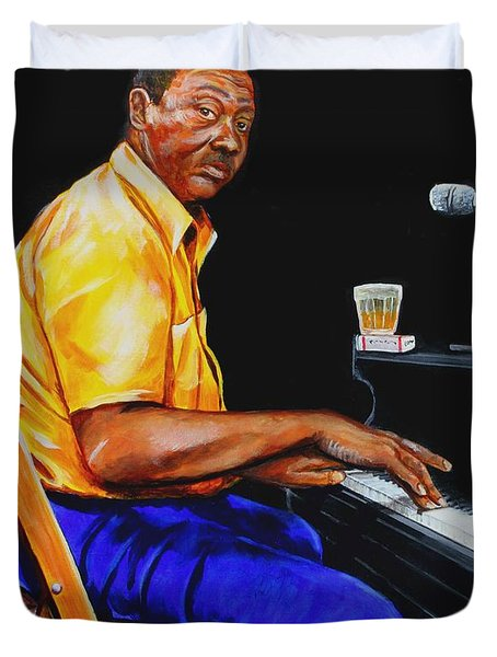 Pinetop Perkins Duvet Cover by Karl Wagner