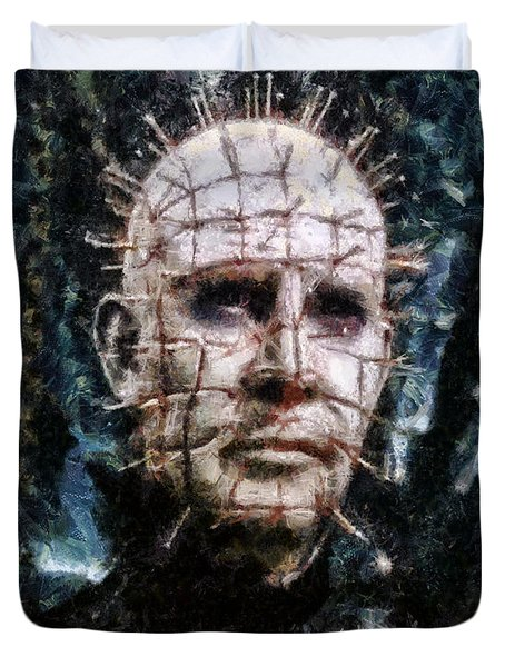 Pinhead Duvet Cover by Joe Misrasi