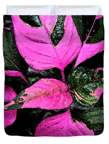 Duvet Cover featuring the photograph Pink And Green by Aimee L Maher Photography and Art Visit ALMGallerydotcom
