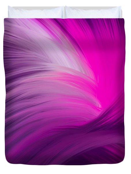 Pink And Purple Swirls Duvet Cover