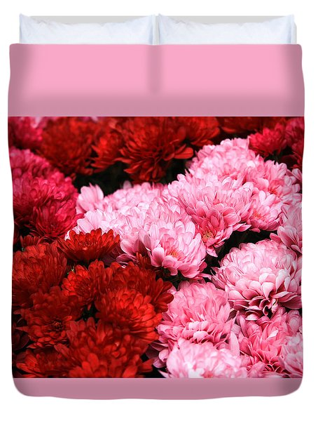 Pink And Red Duvet Cover by Menachem Ganon