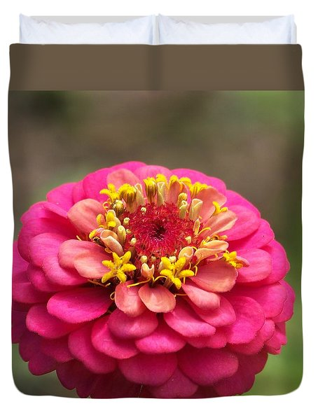 Duvet Cover featuring the photograph Pink Floral  by Eunice Miller