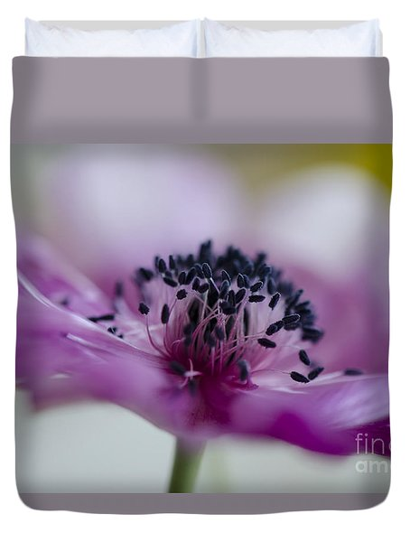 Pink Anemone  Duvet Cover by Nicole Markmann Nelson