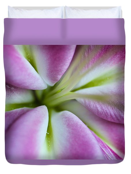 Pink Asiatic Lily Duvet Cover by Julie Andel