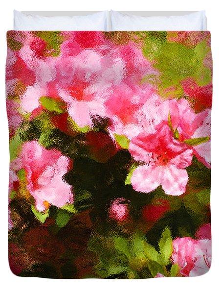 Pink Azealas Duvet Cover