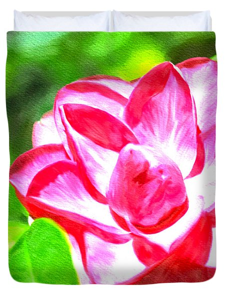Pink Beauty  Duvet Cover by Ken Frischkorn