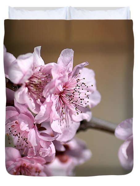 Pink Blossom Duvet Cover by Joy Watson
