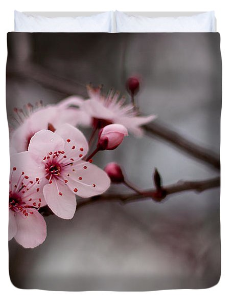 Pink Blossoms Duvet Cover by Michelle Wrighton