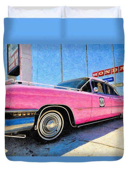Pink Cadillac Duvet Cover