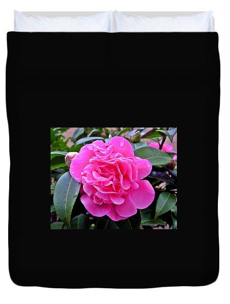 Pink Camillia Duvet Cover
