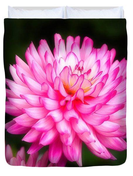 Pink Chrysanths Duvet Cover